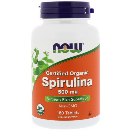 Now Foods, Certified Organic Spirulina, 500 mg, 180 Tablets Review