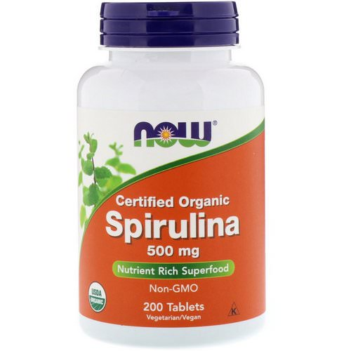 Now Foods, Certified Organic Spirulina, 500 mg, 200 Tablets Review