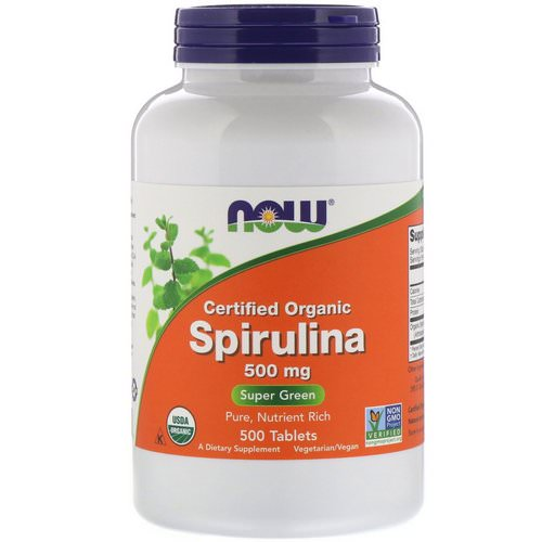 Now Foods, Certified Organic Spirulina, 500 mg, 500 Tablets Review