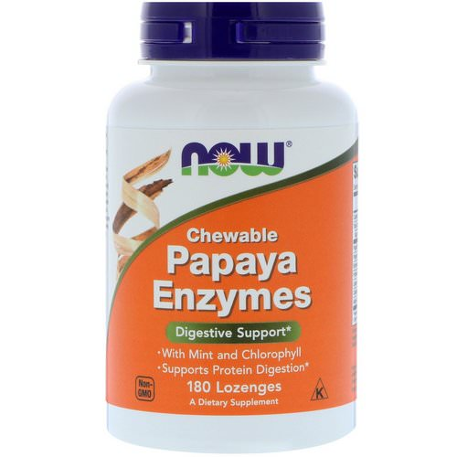 Now Foods, Chewable Papaya Enzymes, 180 Lozenges Review