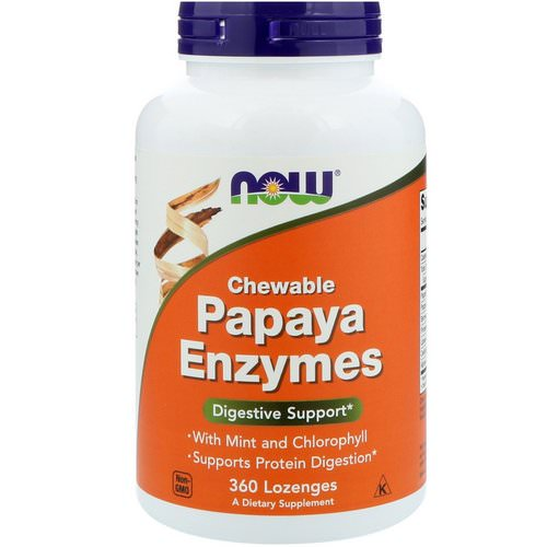 Now Foods, Chewable Papaya Enzymes, 360 Lozenges Review