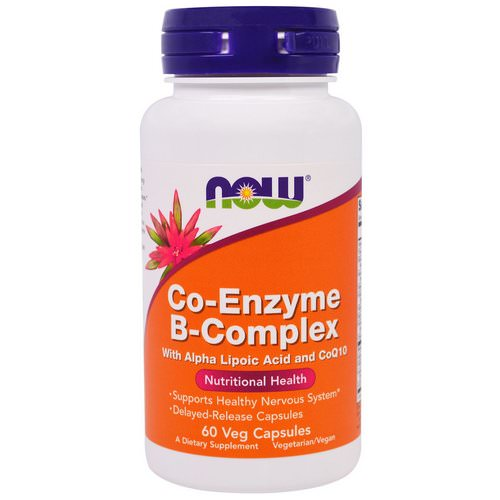 Now Foods, Co-Enzyme B-Complex, 60 Veggie Caps Review