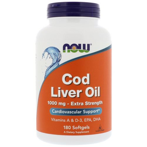 Now Foods, Cod Liver Oil, 1,000 mg, 180 Softgels Review