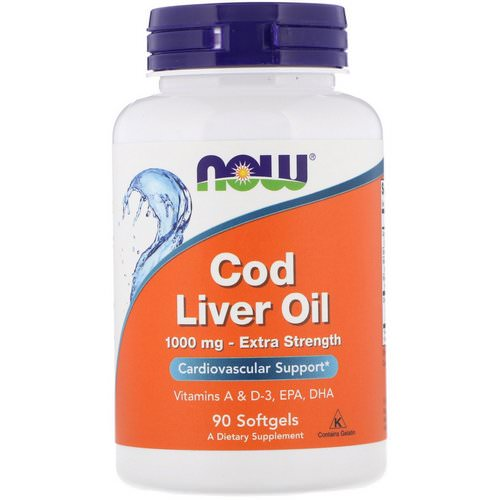 Now Foods, Cod Liver Oil, Extra Strength, 1,000 mg, 90 Softgels Review
