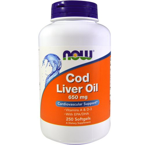 Now Foods, Cod Liver Oil, 650 mg, 250 Softgels Review