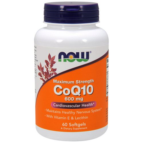Now Foods, CoQ10, 600 mg, 60 Softgels Review