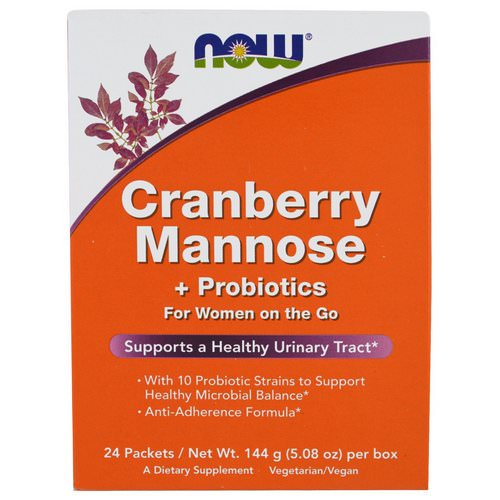 Now Foods, Cranberry Mannose + Probiotics, 24 Packets, (6 g) Each Review