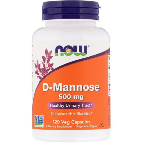 Now Foods, D-Mannose, 500 mg, 120 Veg Capsules Review
