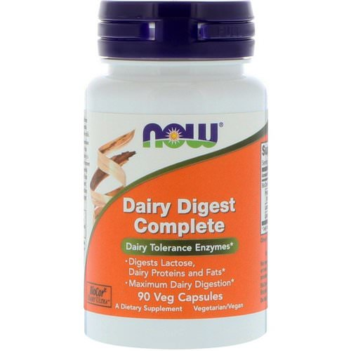 Now Foods, Dairy Digest Complete, 90 Veg Capsules Review