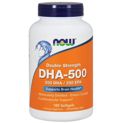 Now Foods, DHA-500/EPA-250, Double Strength, 180 Softgels Review