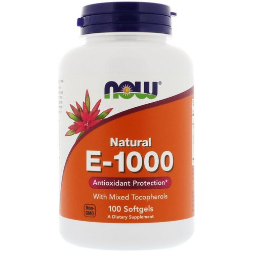 Now Foods, E-1000, 100 Softgels Review