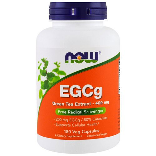Now Foods, EGCg, Green Tea Extract, 400 mg, 180 Veg Capsules Review