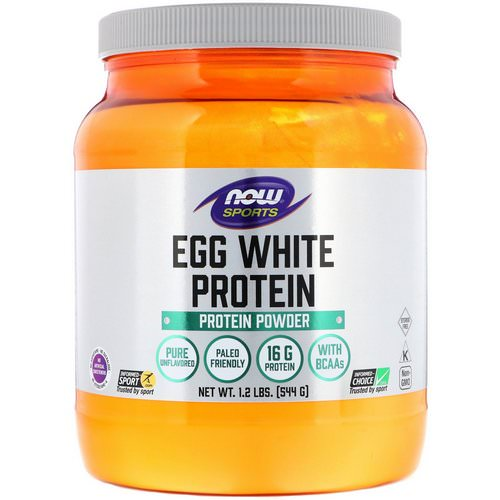 Now Foods, Egg White Protein, Protein Powder, 1.2 lbs (544 g) Review