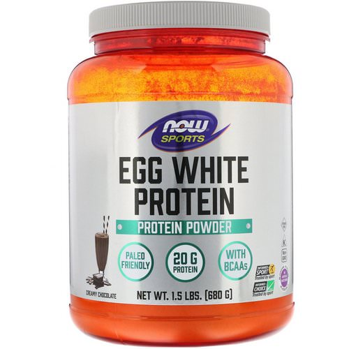 Now Foods, Eggwhite Protein, Creamy Chocolate, 1.5 lbs (680 g) Review