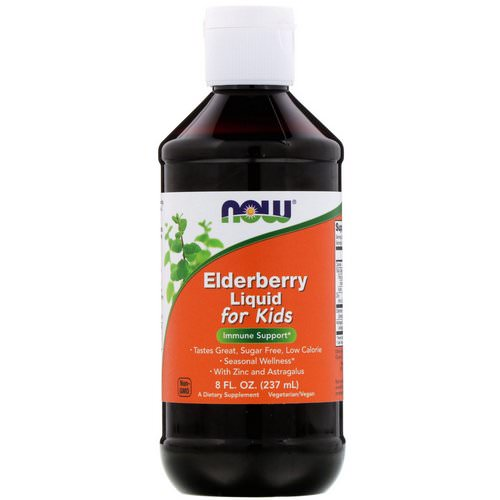 Now Foods, Elderberry Liquid for Kids, 8 fl oz (237 ml) Review