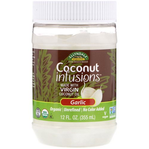 Now Foods, Ellyndale Naturals, Coconut Infusions, Garlic Flavor, 12 fl oz (355 ml) Review