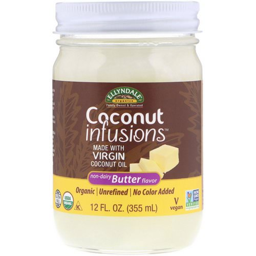 Now Foods, Ellyndale Naturals, Coconut Infusions, Non-Dairy Butter Flavor, 12 fl oz (355 ml) Review