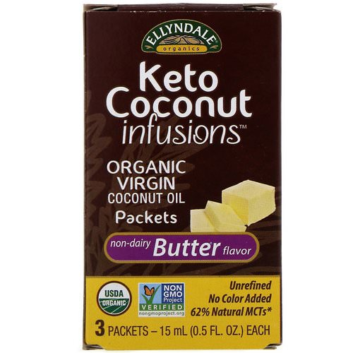 Now Foods, Ellyndale Naturals, Keto Coconut Infusions, Non-Dairy Butter Flavor, 3 Pack, 0.5 fl oz (15 ml) Each Review