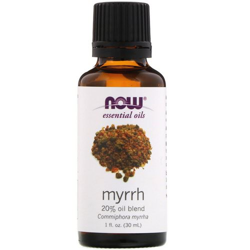 Now Foods, Essential Oils, Myrrh, 20% Oil Blend, 1 fl oz (30 ml) Review