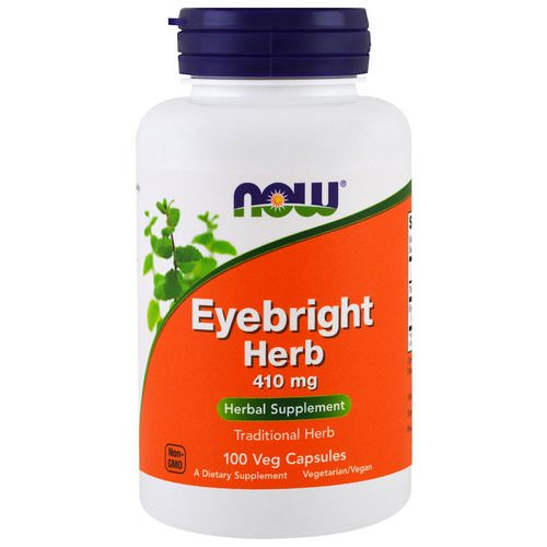 Now Foods, Eyebright Herb, 410 mg, 100 Veggie Caps Review