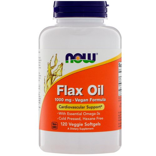 Now Foods, Flax Oil, 1000 mg, 120 Veggie Softgels Review
