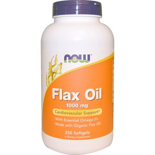 Now Foods, Flax Oil, Essential Omega-3's, 1000 mg, 250 Softgels Review