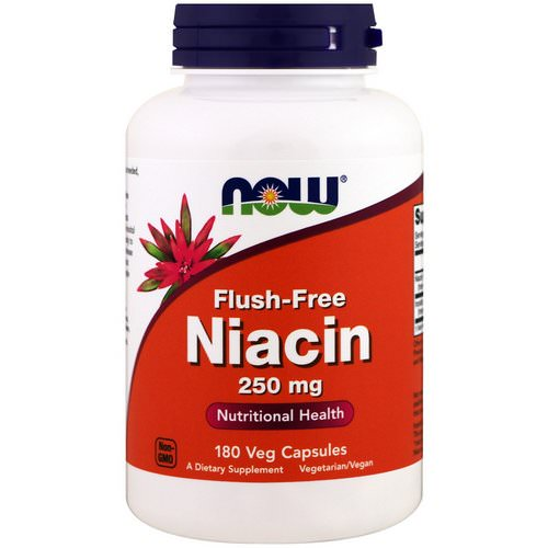 Now Foods, Flush-Free Niacin, 250 mg, 180 Veg Capsules Review