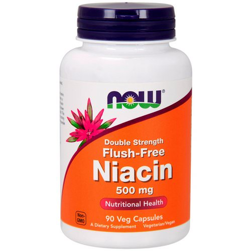 Now Foods, Flush-Free Niacin, Double Strength, 500 mg, 90 Veg Capsules Review