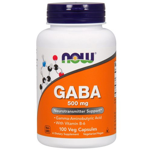 Now Foods, GABA, 500 mg, 100 Veg Capsules Review