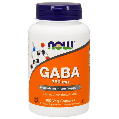 Now Foods, GABA, 750 mg, 100 Veg Capsules Review
