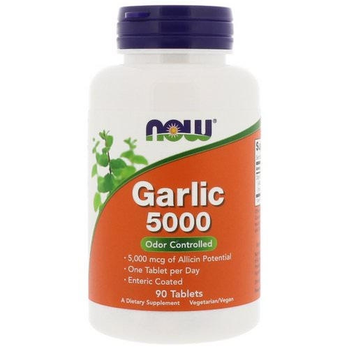 Now Foods, Garlic 5000, 90 Tablets Review