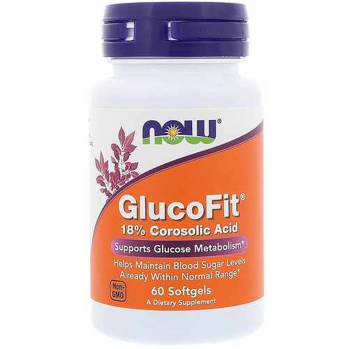 Now Foods, GlucoFit, 60 Softgels Review