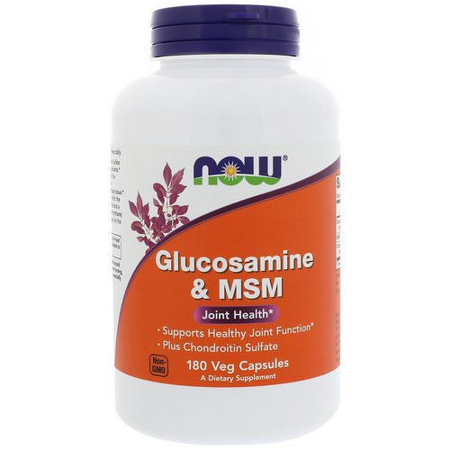 Now Foods, Glucosamine & MSM, 180 Veg Capsules Review