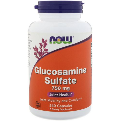Now Foods, Glucosamine Sulfate, 750 mg, 240 Capsules Review
