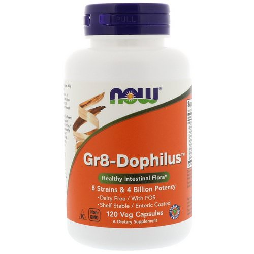 Now Foods, Gr8-Dophilus, 120 Veg Capsules Review