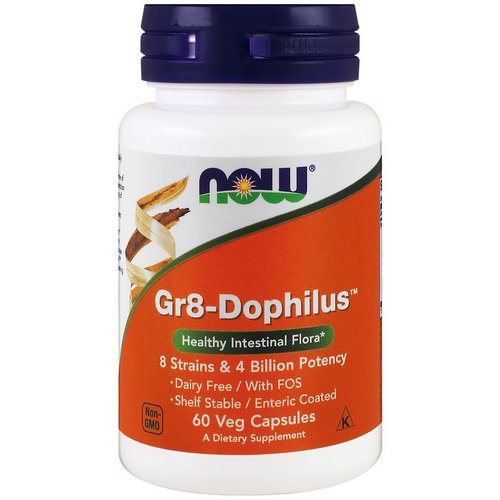 Now Foods, Gr8-Dophilus, 60 Veg Capsules Review
