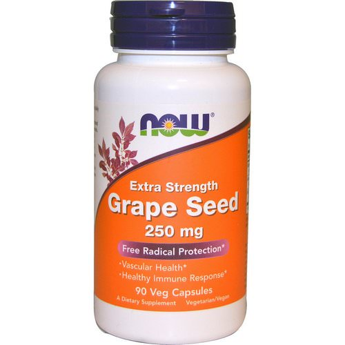 Now Foods, Grape Seed, Extra Strength, 250 mg, 90 Veg Capsules Review
