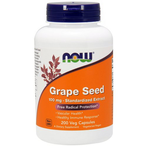 Now Foods, Grape Seed, Standardized Extract, 100 mg, 200 Veg Capsules Review