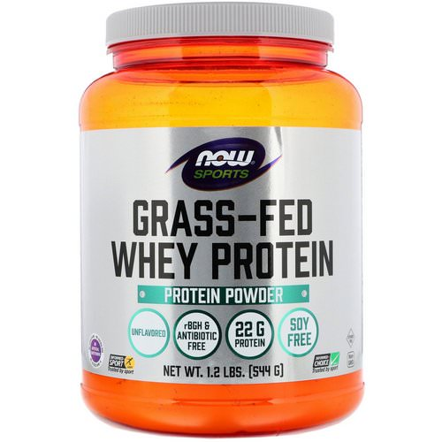 Now Foods, Grass-Fed Whey Protein Concentrate, Unflavored, 1.2 lbs (544 g) Review