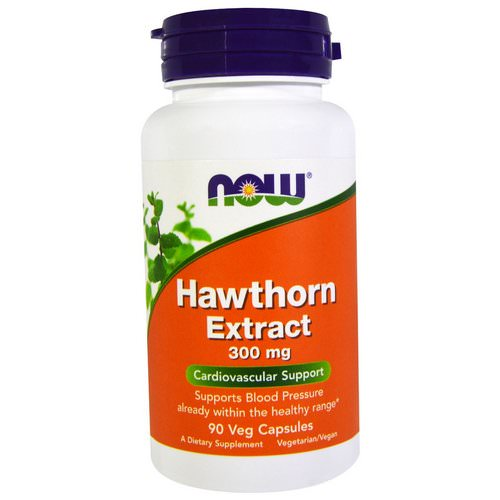 Now Foods, Hawthorn Extract, 300 mg, 90 Veg Capsules Review