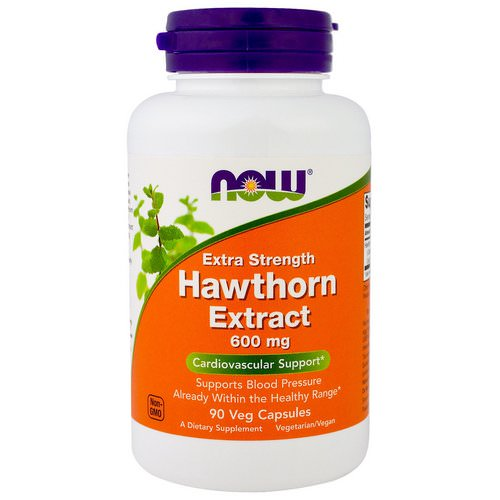 Now Foods, Hawthorn Extract, Extra Strength, 600 mg, 90 Veg Capsules Review