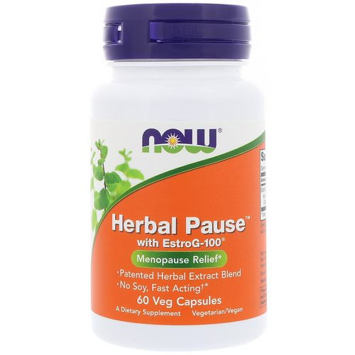 Now Foods, Herbal Pause With EstroG-100, 60 Veg Capsules Review