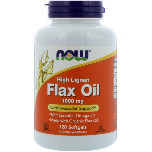 Now Foods, High Lignan Flax Oil, 1,000 mg, 120 Softgels Review