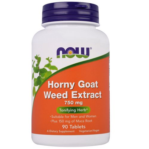 Now Foods, Horny Goat Weed Extract, 750 mg, 90 Tablets Review