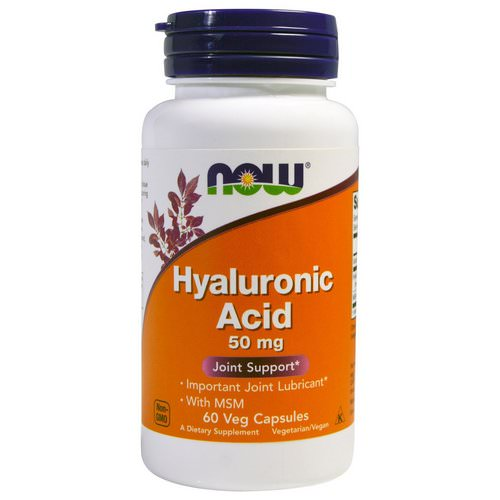 Now Foods, Hyaluronic Acid, 50 mg, 60 Veg Capsules Review