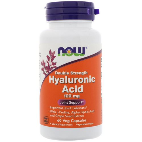 Now Foods, Hyaluronic Acid, Double Strength, 100 mg, 60 Veg Capsules Review