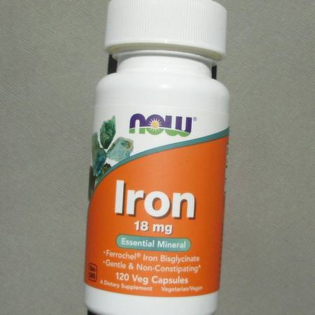 Supplements Minerals Iron Non Gmo Now Foods