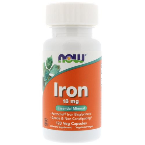 Now Foods, Iron, 18 mg, 120 Veg Capsules Review