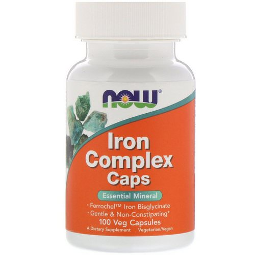 Now Foods, Iron Complex Caps, 100 Veg Capsules Review