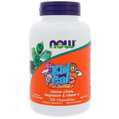 Now Foods, Kid Cal, Tart Orange, 100 Chewables Review